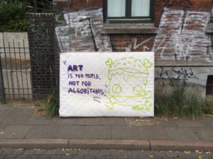 """""""Art is for people not for algorithms"""""""