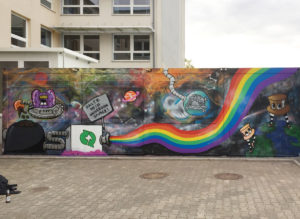 No Space For Racism / School in Boizenburg / with King FF_art, angry_koala & Johniversum / 2017