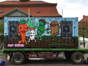 Container for a vegetable farmer / with Johniversum / Boizenburg / 2017