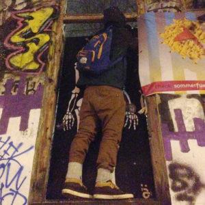 """The Dead King"" / Painted door / Rote Flora Hamburg"
