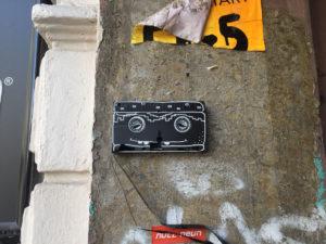Painted VHS cassette / Hamburg Schulterblatt